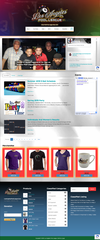 Los Angeles Pool League Website Redesign