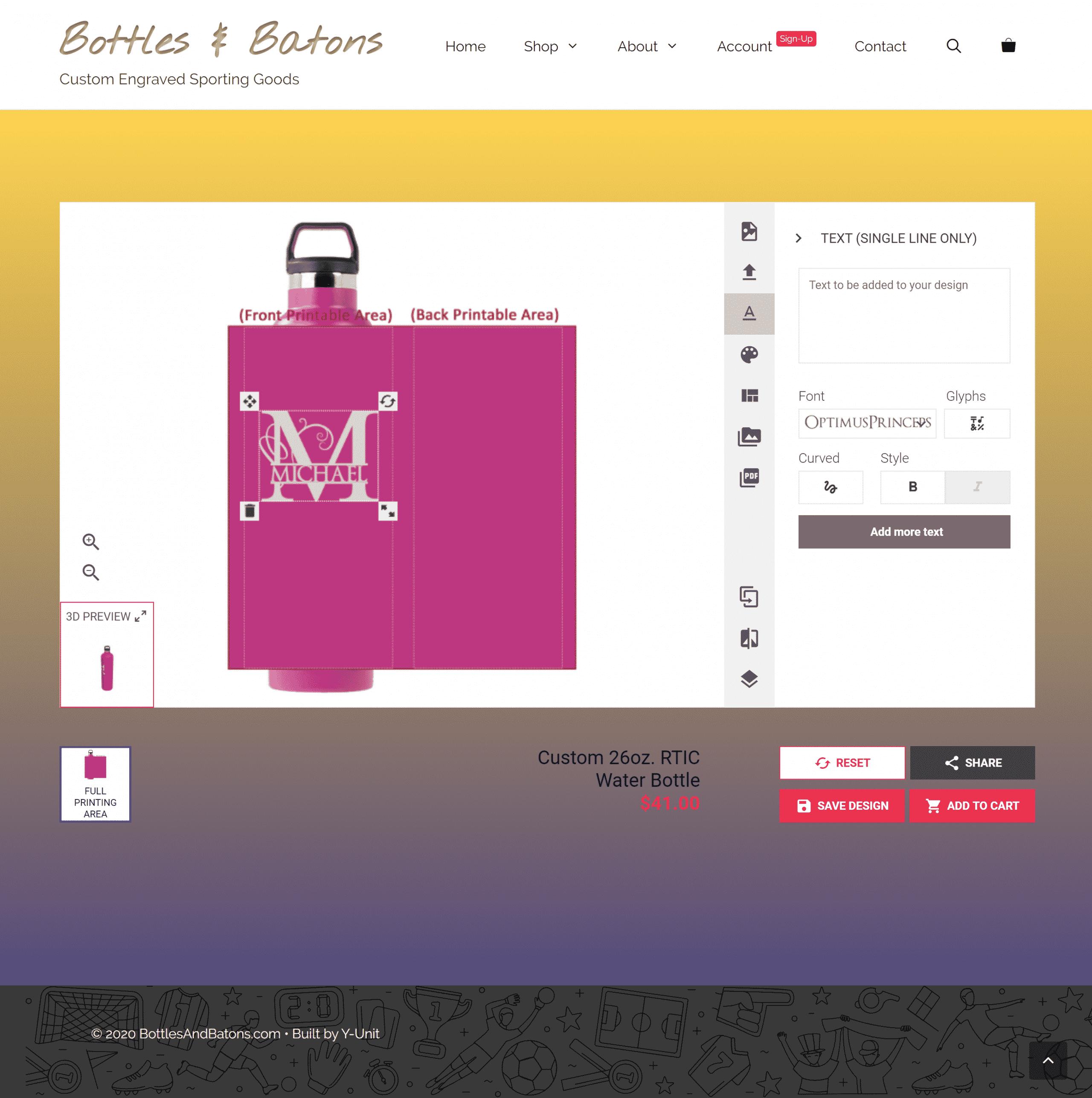 BottlesAndBatons - customizer (Y-Unit.com)