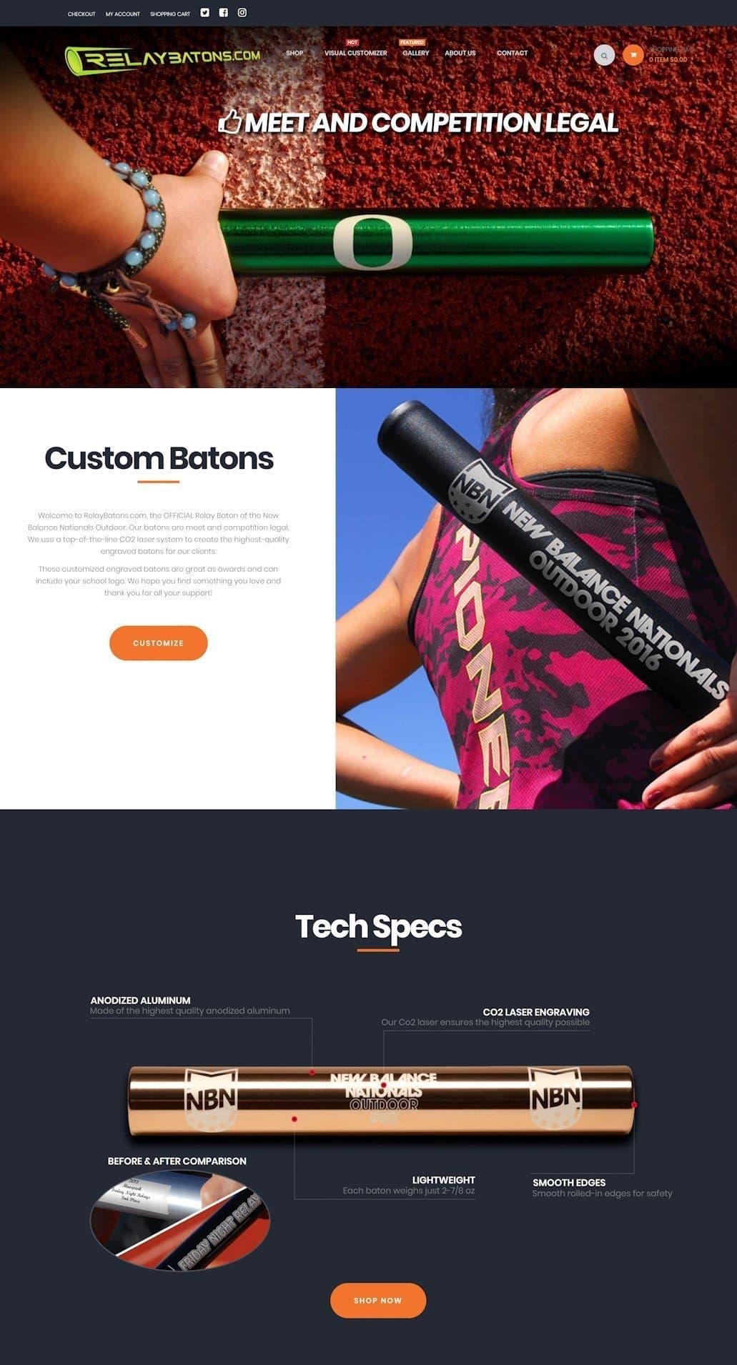 Client - RelayBatons.com (Y-Unit.com)